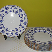 Spode ''Colonel'' with Gold Accent Salad Plates