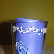 Welch's ''Hey kids come on along'' Swanky Swig Glass - b41 - b43