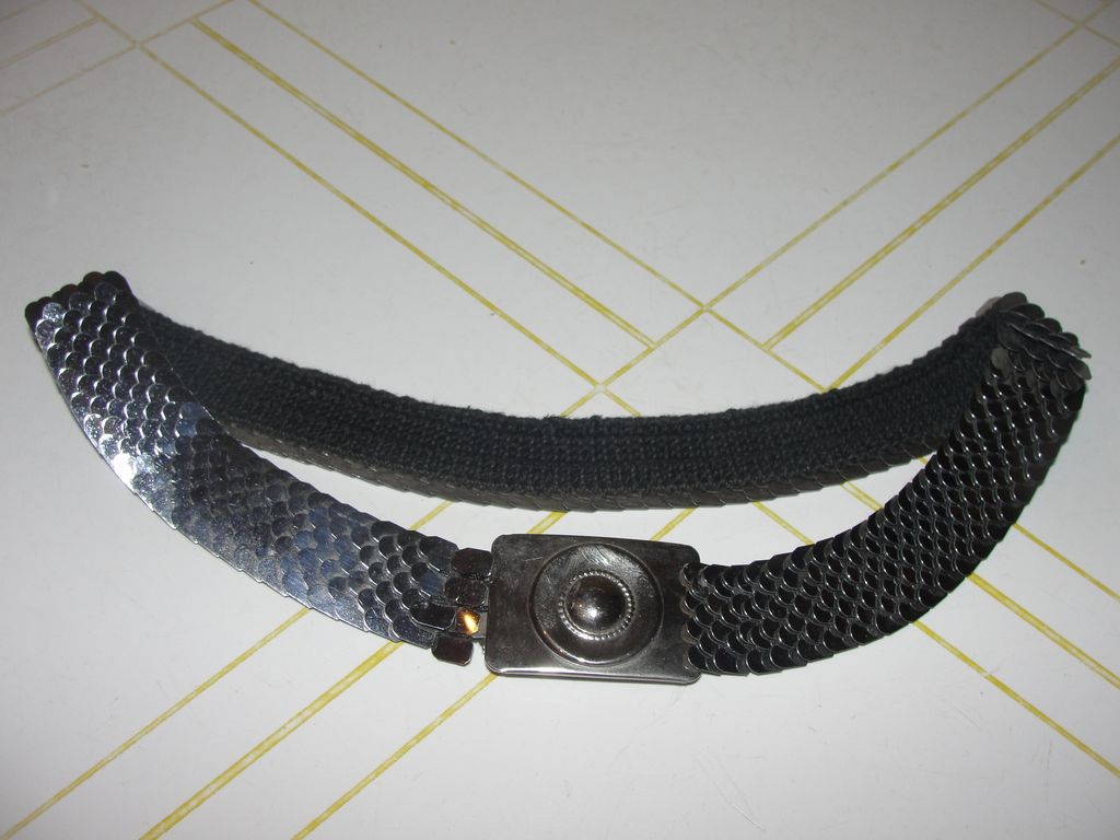 Silver Scales Stretch Belt