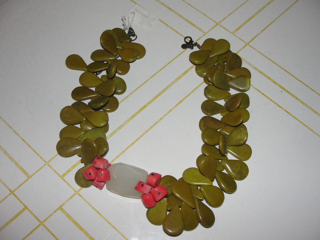 David Aubrey Quartz and Coral Necklace - Free shipping