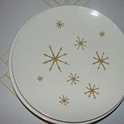 Mid-century Atomic Design Star Glow Royal China Luncheon Plates