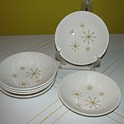 Mid-century Atomic design Star Glow Royal China Berry/sauce Bowls