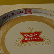 """Enjoy Life with Miller High Life'' Beer Tray - b36"