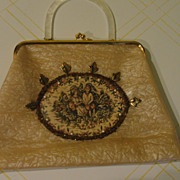 Accessorized Vinyl Handbag - Purse - b47
