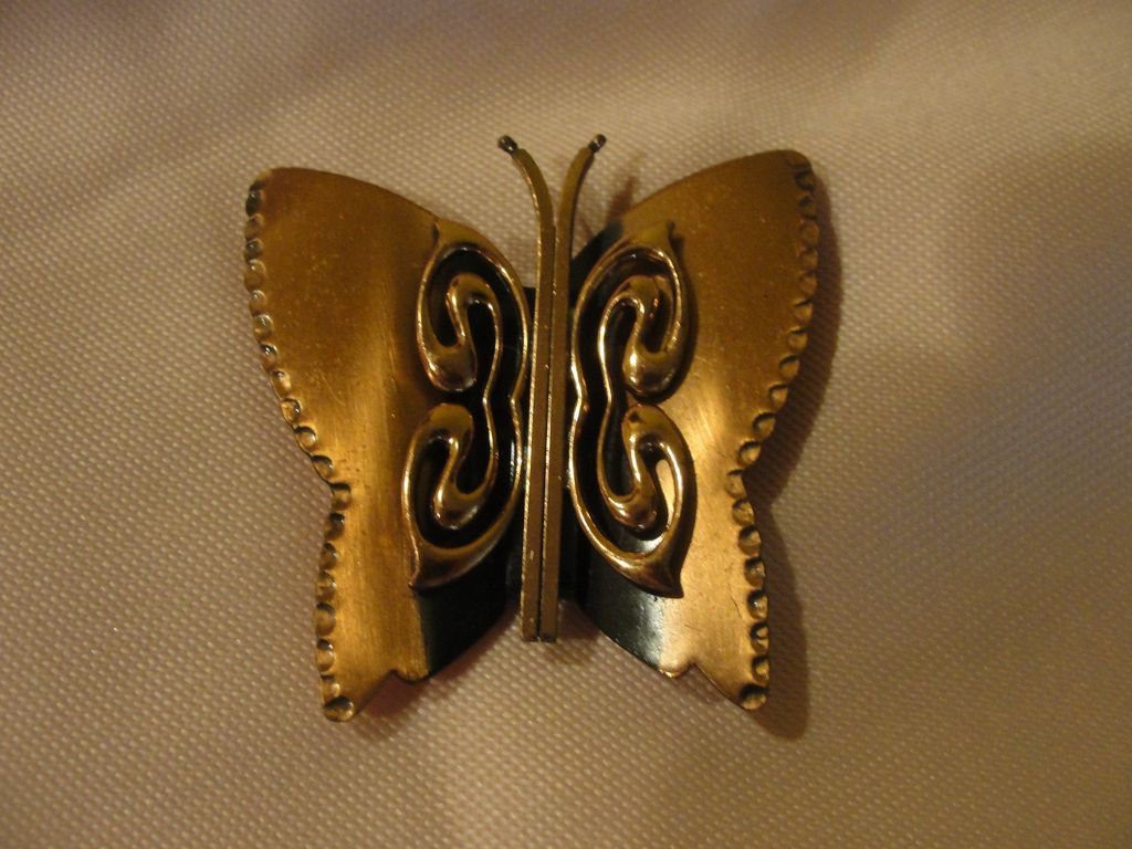 Illusive Butterfly Renoir Copper Brooch/pin - Free shipping