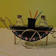 Tea Cart Salt and Pepper Shakers - b44