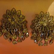 Shimmy Shimmering Rhinestone Clip-on Earrings - free shipping