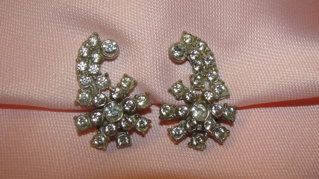 Flower Power Rhinestone Dress/shoe clips - free shipping