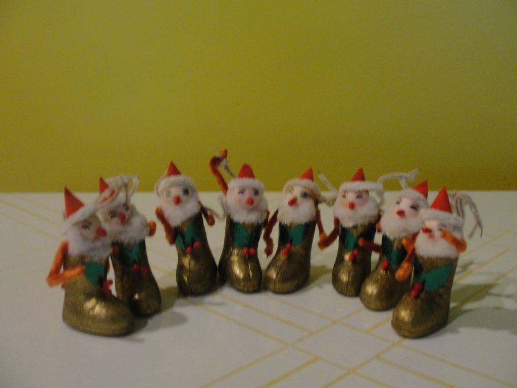Santa In Gold Boots Christmas Ornaments B39 From