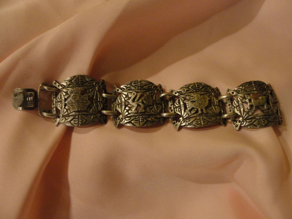 Peruvian 900 Silver Bracelet - Free shipping