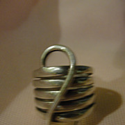 ''S'' Silver band Ring - Free shipping