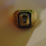 D is for... 10K Gold Initial Ring - Free Shipping