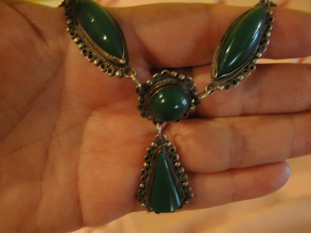 Be a Goddess Green Stone Sterling necklace - Free shipping