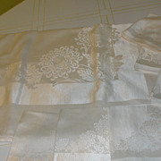 Chrysanthemum on Ivory Table cloth and Napkins