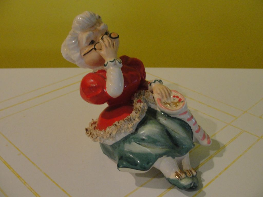 Lefton Mrs Clause shelf Sitter - b49