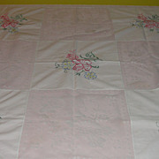 Lace and Embroidery Squares Tablecloth