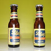 Blatz Beer Bottle Salt and Pepper Shakers