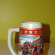 Budweiser Hometown Holiday 1993 Holiday Stein - b49