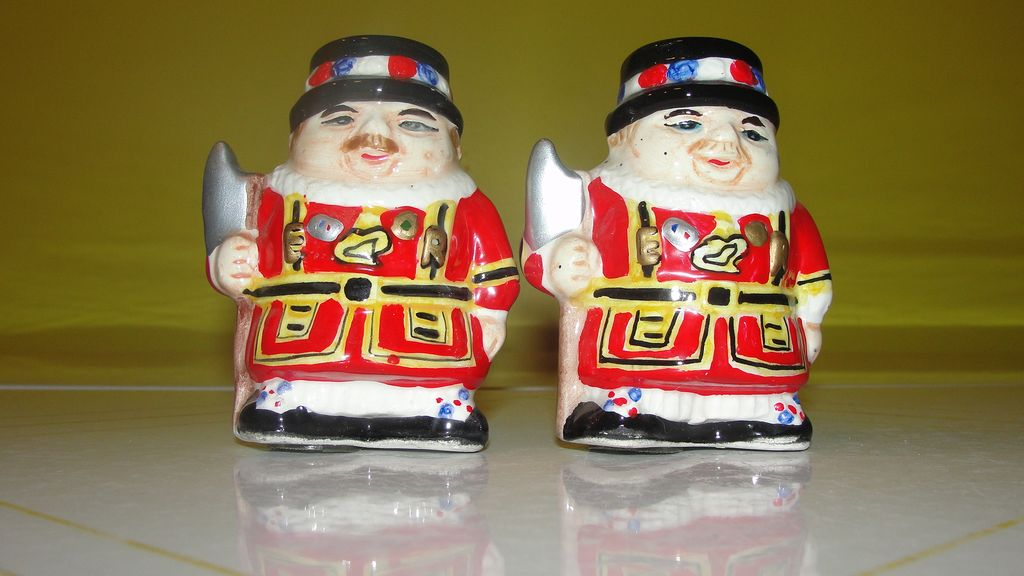 Beefeater Salt and Pepper Shakers