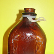Quality Checkd 1/2 Gallon Brown Milk Bottle with Handle
