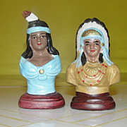 Squaw and Brave Salt and Pepper Shakers