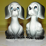 Sad Eyes Dogs Salt and Pepper Shakers