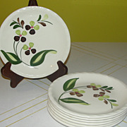 Blue Ridge Southern Potteries Co ''Spray'' Bread and Butter Plates