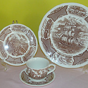 Alfred Meakin ''Fair Wind'' 4 piece place setting