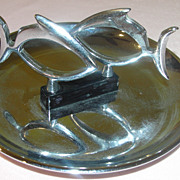 One Fish, two Fish Hamilton Chrome Pincherette Ashtray - b49