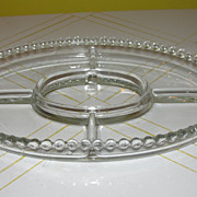Candlewick 5-part Oval Relish Tray - b52