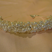 Faux Pearl and Crystal Headband - b172
