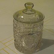 Pinwheel Glass Lidded Candy Jar - b49