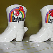 Las Vegas Cowboy Boots Salt and Pepper Shakers