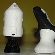 U.S. Space Capsule and Shuttle Salt and pepper Shakers