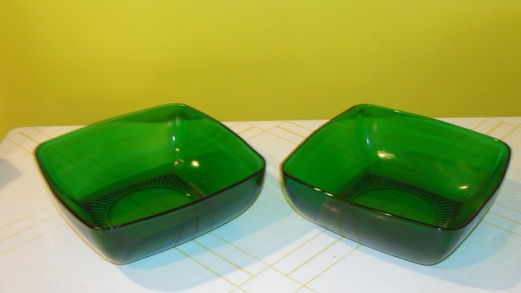 Forest Green Glass Bowls
