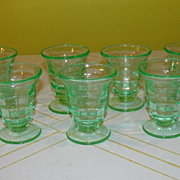 Glow in the Dark Vaseline Stem Cordial Glasses