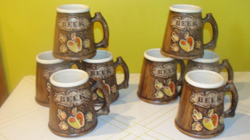 "Treasure Craft  Apple ""Fruit"" Beer Mugs"