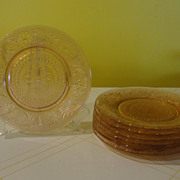 Indiana Glass Tiara Pink Sandwich Luncheon Plates