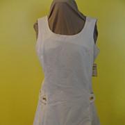 Mini-Care White Mini Dress