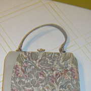 Beige and Brocade Handbag/purse
