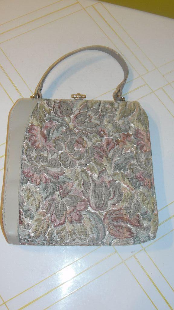 Beige and Brocade Handbag/purse
