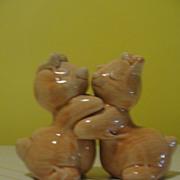 Bunny Love Hugging Salt and Pepper Shakers
