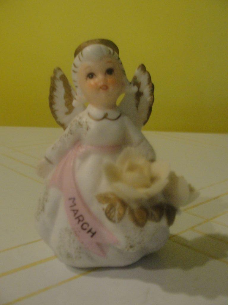 Lefton March Birthday Angel KW3332