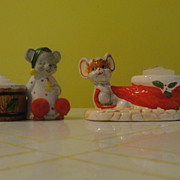 Christmas Mice Candleholders