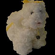 Poodle Pup Yarn Dog - b119