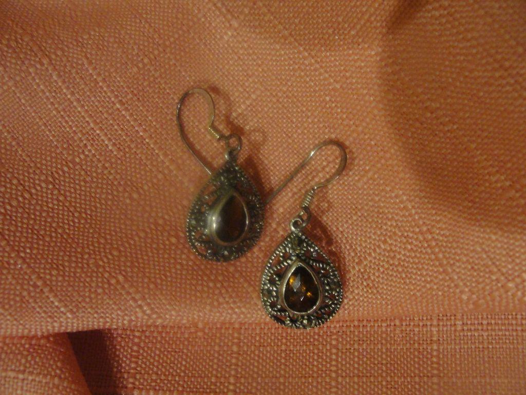Teardrop J-hook Silver earrings - free shipping