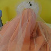 White Flowers and lace Trim Communion Veil