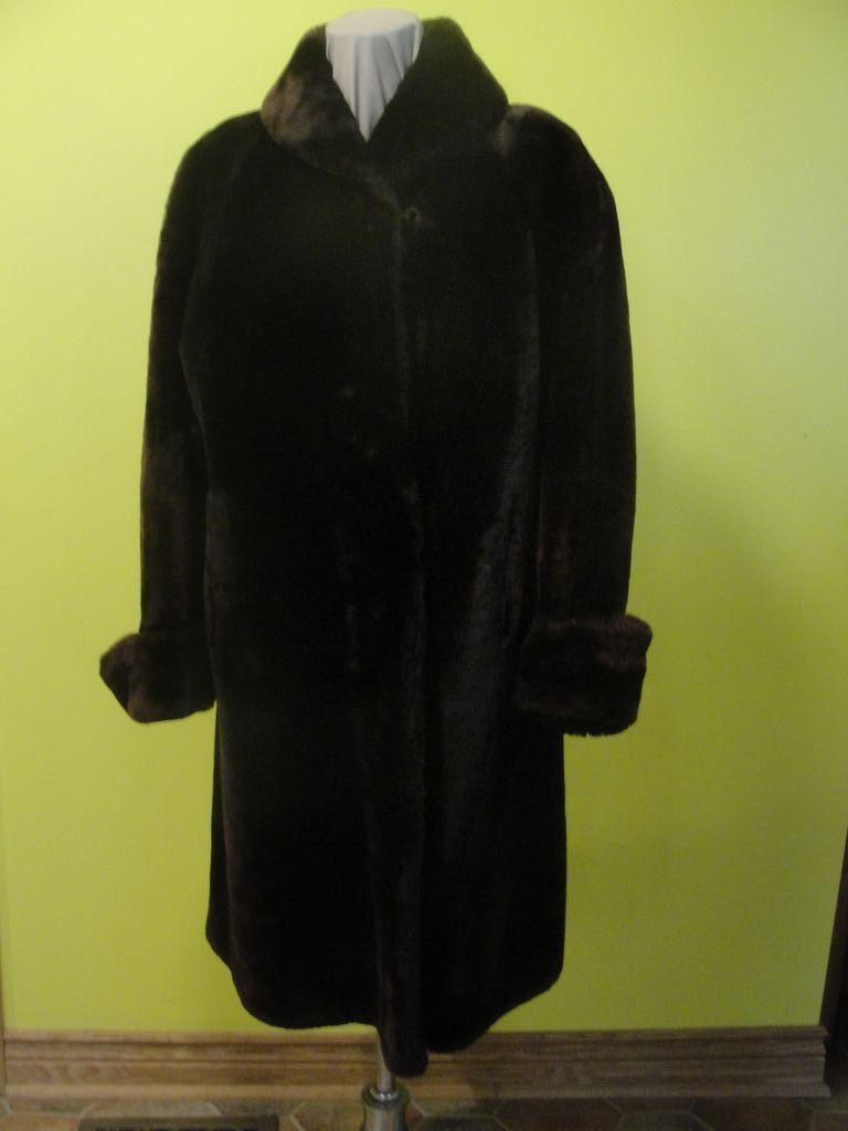 Toasty Warm Darkest Brown Sheared Fur Full Length Coat