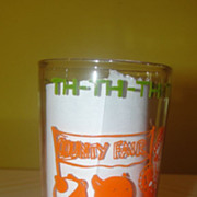''Th - th - th - that's all Folks'' Warner Bros 1974 Jelly Jar Glass