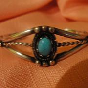 Split Shank Turquoise Bracelet - Free shipping